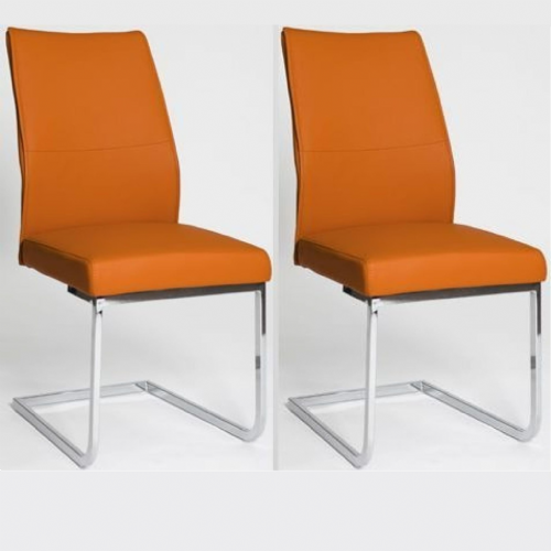Home Essential  AES  Chairs Orange (Pair)